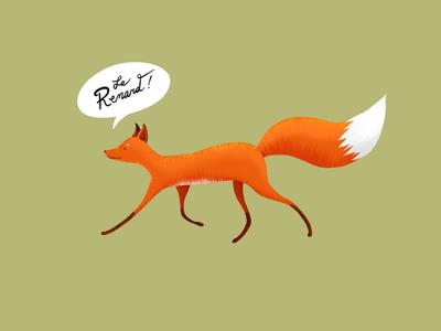 Le Renard! french wildlife animal texture fox childrens illustration