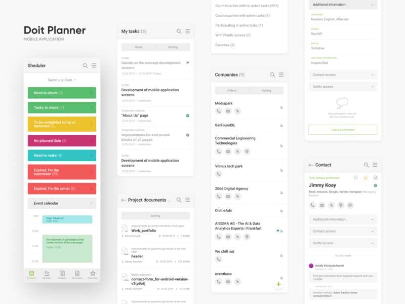 Do it Planner planners time timing design app interface interaction shedule application mobile mobile app ux ui planning planner do it yourself do it