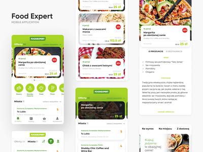 Food Expert application mobile mobile app ux ui interface interaction design app cafe restaurant menu eat eating food bloger food