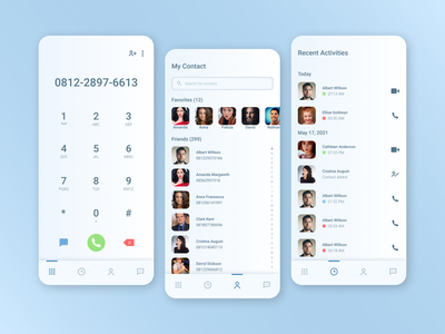 Contact Book App messenger app messenger chat video call message call contact organizer phone book phone app phone contact contact book design app mobile app design mobile app