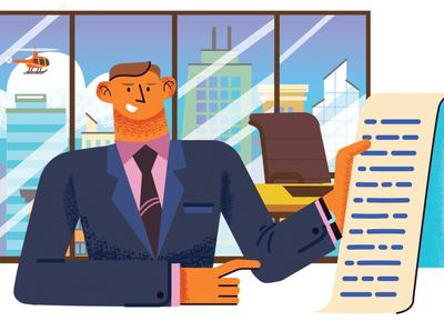 Illustration for email service Sendsay office hipster modern illustraion business