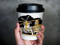 Illustrations for coffee cups