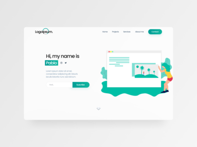 A simple website website ui gradient 2020 landingpage figma clean