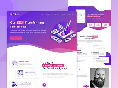 ITSolve: Web Design gradient concept agency 2021 minimal clean figma web design web designer concept design ui website web