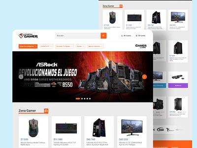 CompraGamer Home-Page Redesign argentina hardware web website ui concept design web designer web design clean figma minimal 2021 store concept