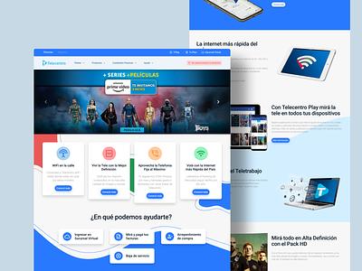 Telecentro Website Redesign concept 2021 minimal figma clean web design web designer concept design ui website web argentina