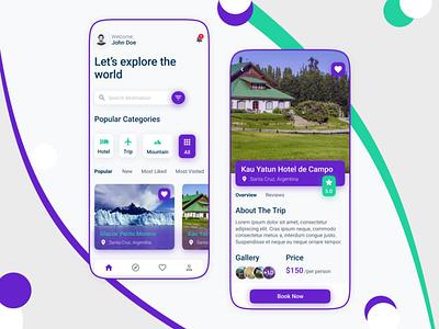 Global Vista - Travel App 2021 travel figma ux ui product design