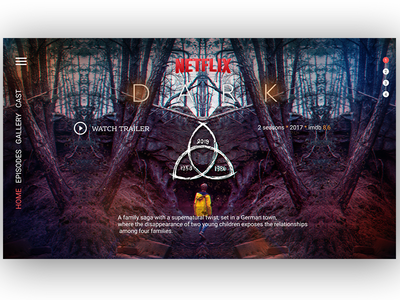 DARK home page concept