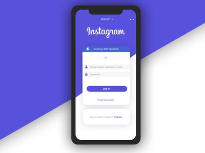 [Redesign] Simple login Instagram app