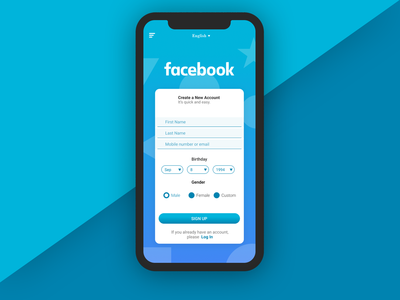 Facebook Register App [Concept]
