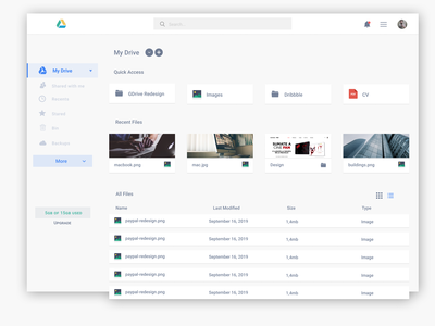 Google Drive Concept [Redesign]