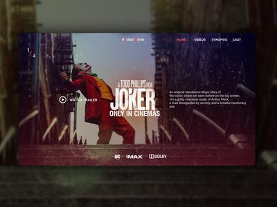 Joker movie website  [Concept]