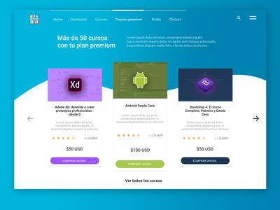 Website of Courses Premium Concept