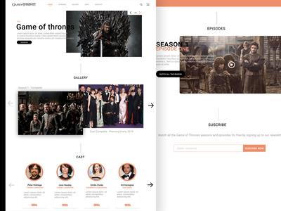 Game Of Thrones website Concept