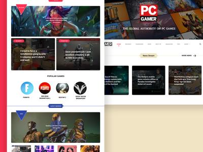 PcGamer website redesign concept