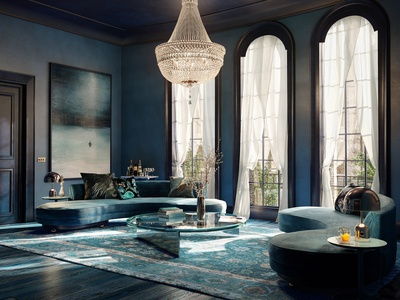 Rgb Blue Luxuryarchviz Cgi Render 3d Visualisation Architecture