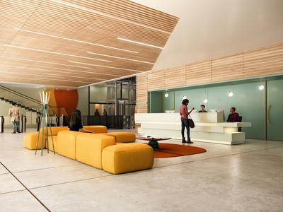 office reception  CGI Architecture visualisation