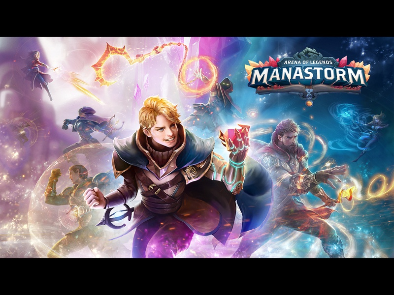Poster for Manastrom mobile game illustration background web graphic manastorm game poster poster graphic design mytona game banner design design