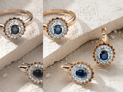 Jewelry image retouching. Before and after. color correction jewelry retouching background jewellery