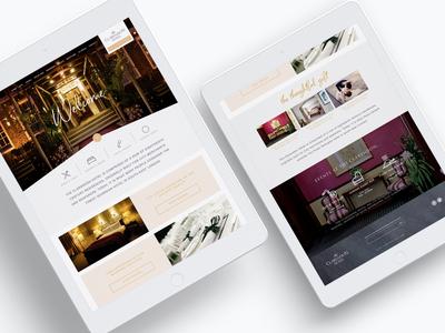 Responsive hotel website concept