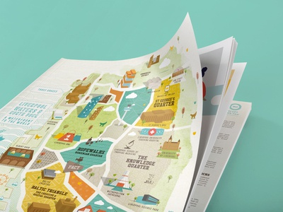 Magazine / Map / Illustration