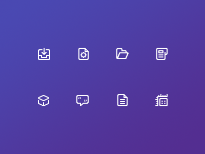 Article category icons icons clean minimalistic