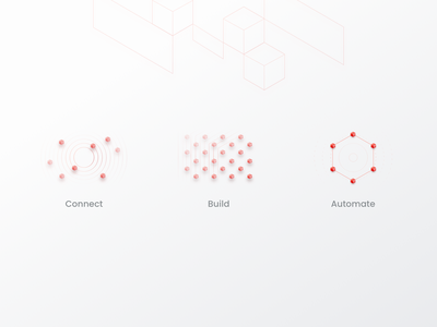 How it works - Illustrations iot icons illustration how it works