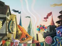 Luna Park illustration children book luna park