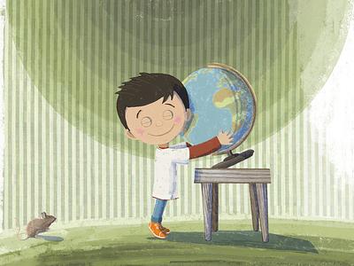 Luke children book illustration illustration