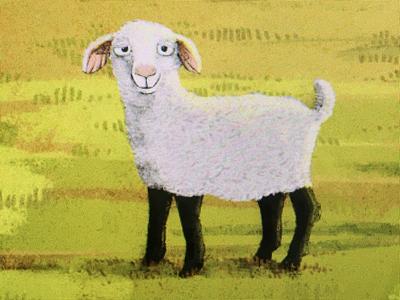 Mähh easter bunny digital children book illustration sheep