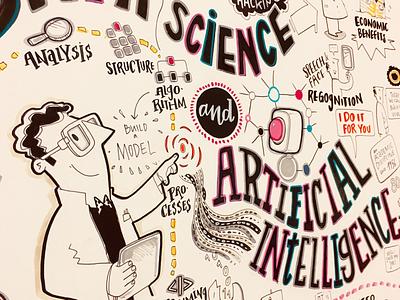Hype live illustration graphic recording ai data science