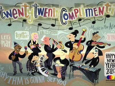 Twenty Twenty Conplimenti illustration