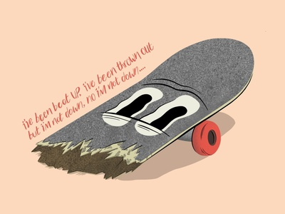 Broken Board Illustration artwork skateboards skateboard design the clash typography procreate art illustration illustrator digital art