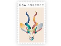 Antelope Stamp Design
