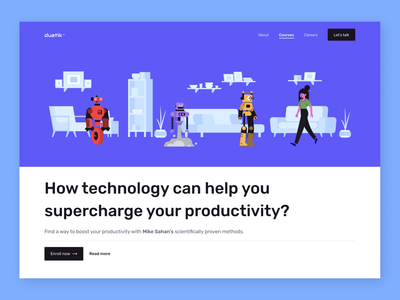 Daily UI- Course Enrollment Page simple ux school app teaching classes feedbackplease ai technology freebie learn course typography ui illustration daily ui