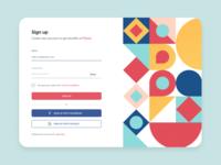 Registration modal