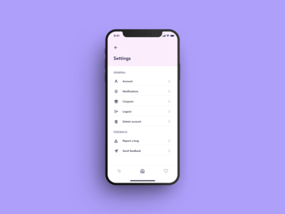 Daily UI Settings page