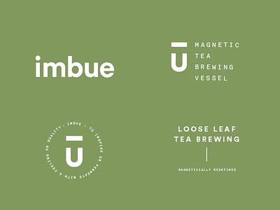 Imbue System tea system branding identity logo