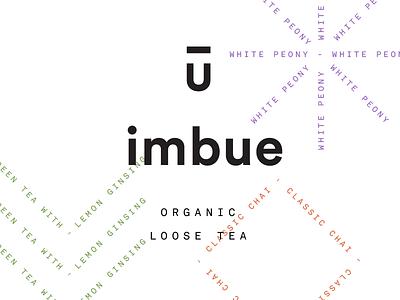 Imbue Loose Tea system tea lockup stamp logo