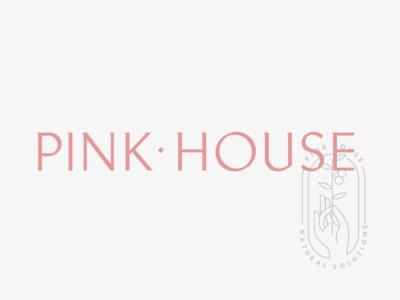 Pink House stamp wordmark logo