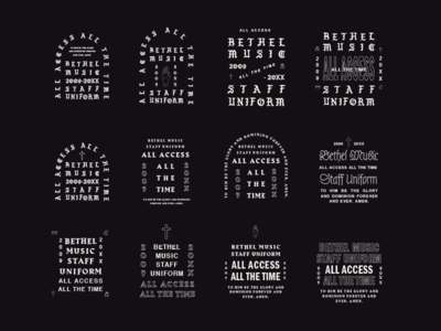 ALL ACCESS blackletter shirt graphic lockup