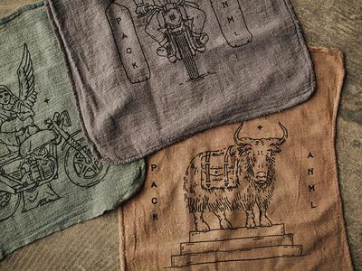 Pack Animal shop rags cult rag shop motorcycle illustration