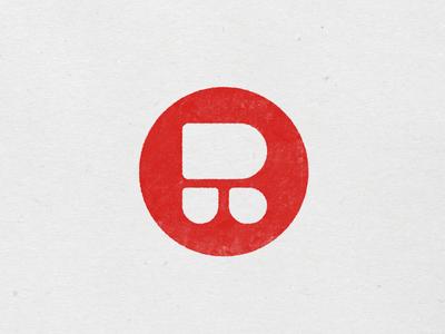 Roomtone mark t r stamp monogram logo