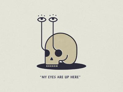 peepers illustration eyes skull