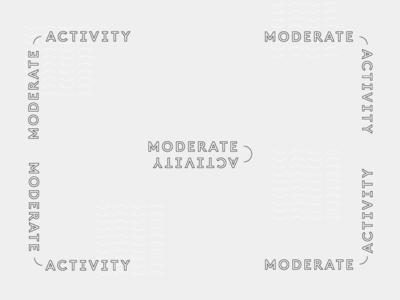 Modern Activity identity outline flexible system logo