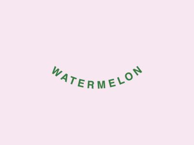 Watermelon typography watermelon logo