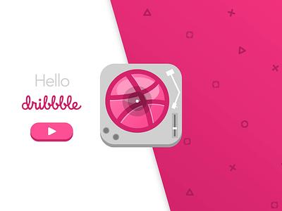 Dribbble Record Player design ux interaction design illustration animation