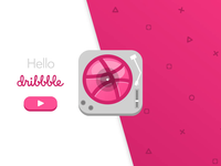 Dribbble Record Player