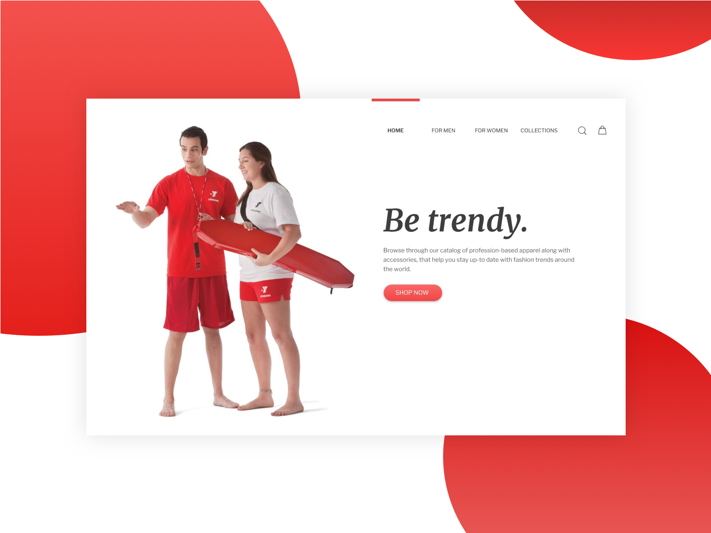 Trendsetters sketch profession shop red ui web 2d