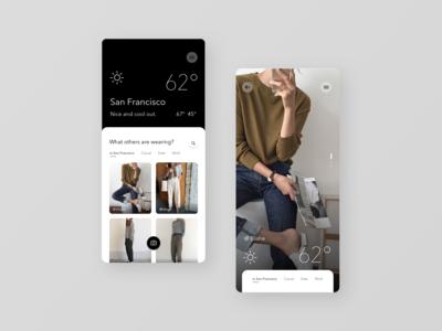 Weather OOTD App Concept